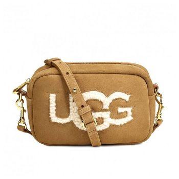 Женская сумка Ugg Janey Sheepskin Crossbody Chestnut